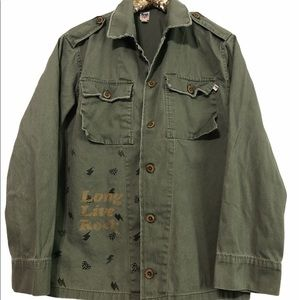 By Junk Food Military Style Shirt Jacket large